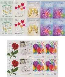 Australian Stamps 2014 SG4155-61 Special Occasions 2014 set of 7 self-adhesive from booklets (exSB466-72) blocks of 4